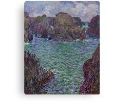 Claude Monet - Port-Goulphar Belle , Impressionism Canvas Print