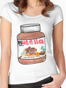 nutella spread watercolor Women's Fitted Scoop T-Shirt