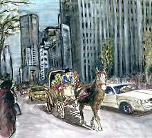 5th Avenue Ride - New York Painting by ArtAmerica