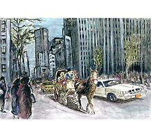 5th Avenue Ride - New York Painting Photographic Print