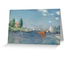 Claude Monet - Red Boats. Argenteuil  Greeting Card