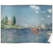 Claude Monet - Red Boats. Argenteuil  Poster