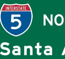 Santa Ana, Road Sign, California Sticker