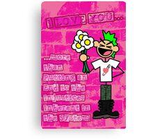 Punk Love Canvas Print