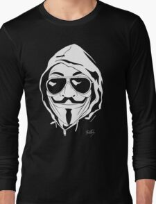 Vendetta Shades Logo Black-T Long Sleeve T-Shirt