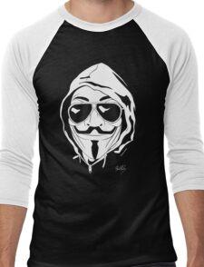 Vendetta Shades Logo Black-T Men's Baseball ¾ T-Shirt