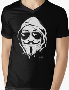 Vendetta Shades Logo Black-T Mens V-Neck T-Shirt