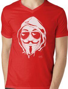 Vendetta Shades Logo Black-T Mens V-Neck T-Shirt