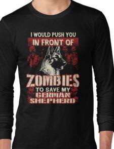German Shepherd Dog-Zombies Long Sleeve T-Shirt