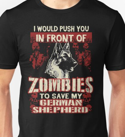 German Shepherd Dog-Zombies Unisex T-Shirt