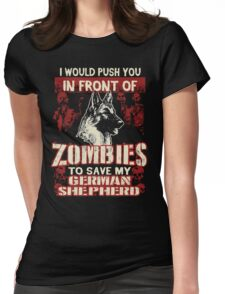 German Shepherd Dog-Zombies Womens Fitted T-Shirt