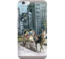 5th Avenue Ride - New York Painting iPhone Case/Skin