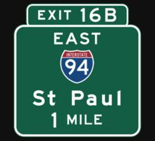 St. Paul, Road Sign, Minnesota by worldofsigns