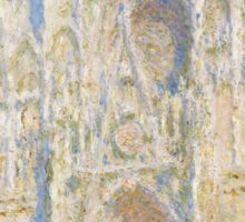 Claude Monet - Rouen Cathedral.  West Facade.  Sunlight  , Impressionism Sticker