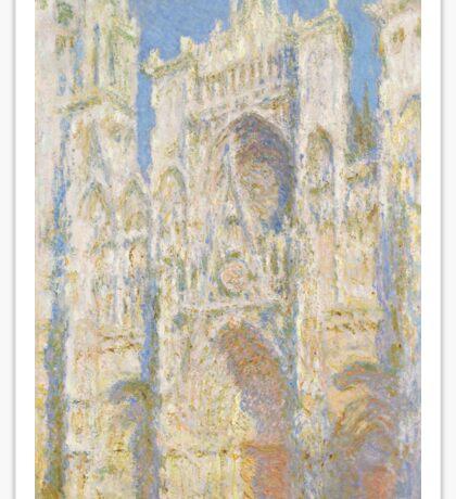 Claude Monet - Rouen Cathedral.  West Facade.  Sunlight  , Impressionism Sticker