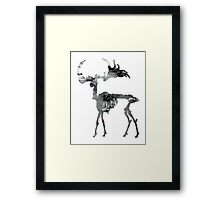 Megaloceros giganteus, Irish Elk, Irish giant deer, Framed Print