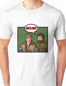 Get a job, hippy! Unisex T-Shirt