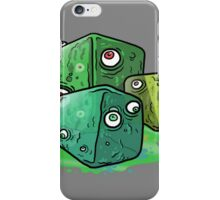 colorful cartoony Slime cubes iPhone Case/Skin