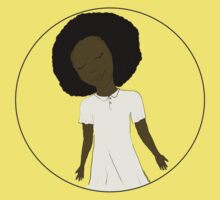 "African American Girl from the ""Five Birds on a Wire"" book (Kids & Baby Tees+Onesies) One Piece - Short Sleeve"