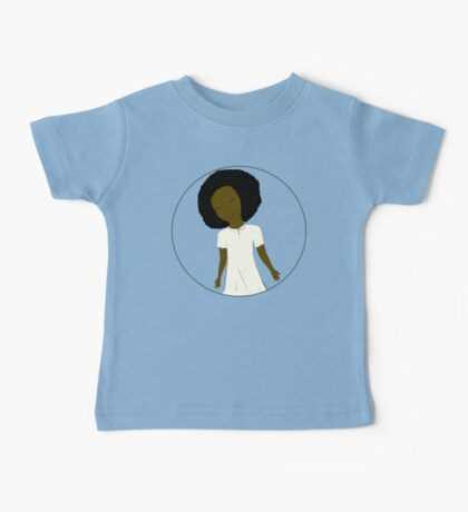 """African American Girl from the """"Five Birds on a Wire"""" book (Kids & Baby Tees+Onesies) Baby Tee"""