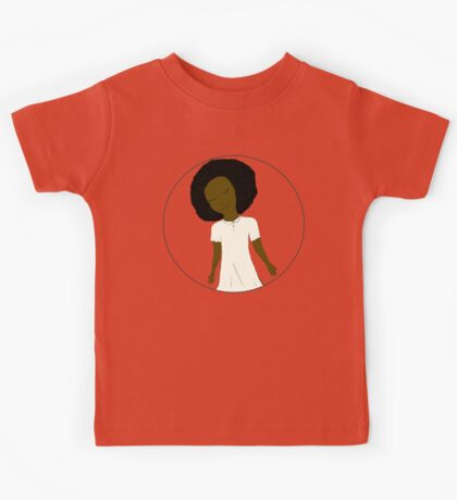 """African American Girl from the """"Five Birds on a Wire"""" book (Kids & Baby Tees+Onesies) Kids Tee"""
