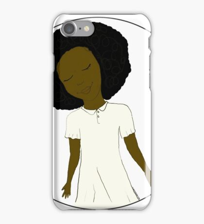 """African American Girl from the """"Five Birds on a Wire"""" book (Kids & Baby Tees+Onesies) iPhone Case/Skin"""