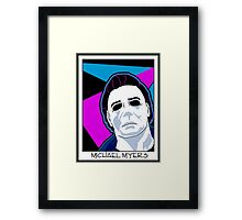 Michael Myers in the 80's Framed Print