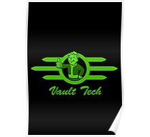 Vault Tech logo - With Fallout Boy, with Label Poster