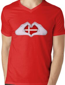 Denmark Mens V-Neck T-Shirt