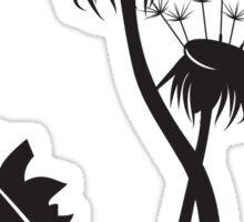 Dandelion silhouette Sticker