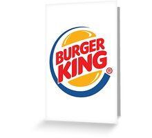 Burger King Logo Greeting Card