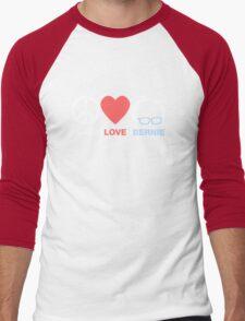 Peace, Love, Bernie Men's Baseball ¾ T-Shirt