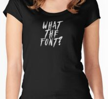 What The Font? Graffiti and Meatballs Women's Fitted Scoop T-Shirt