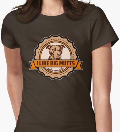 I Like Big Mutts Womens Fitted T-Shirt