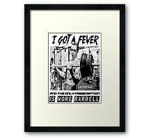 Christopher Bulken - More Barbell Framed Print