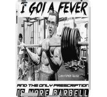 Christopher Bulken - More Barbell iPad Case/Skin