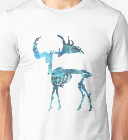 Irish Elk, Irish giant deer, Megaloceros giganteus, Irish Deer Art, Deer Skeleton, Deer Bones, Deer Skull, Deer skeletons Unisex T-Shirt