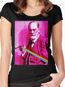Pink Freud Sigmund Women's Fitted Scoop T-Shirt