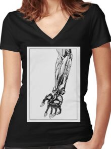 Arm Robot Women's Fitted V-Neck T-Shirt