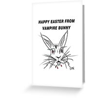 Happy Easter From Vampire Bunny Greeting Card