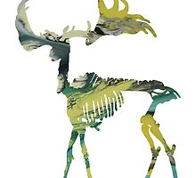 Irish Elk Skeleton by MordaxFurritus