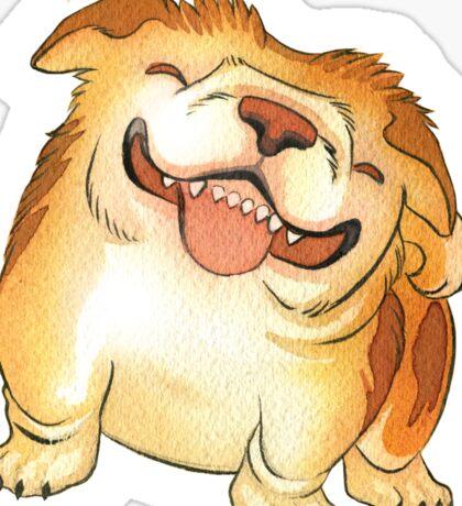 One Grinning Happy Bulldog Sticker