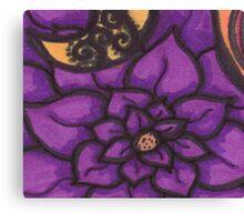 Deep Purple Flower Abyss Canvas Print