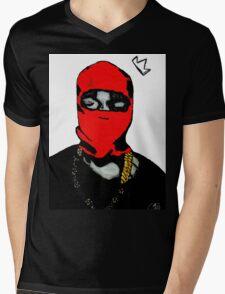 Red Ye (Masked) Mens V-Neck T-Shirt