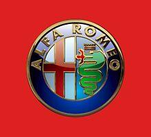 Alfa Romeo - 3D Badge on Red T-Shirt