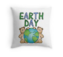 Earth Day Bears Throw Pillow