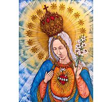 Immaculate Heart Of Virgin Mary Drawing Photographic Print
