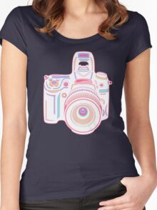 Cute Pastel Camera Women's Fitted Scoop T-Shirt
