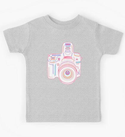 Cute Pastel Camera Kids Tee