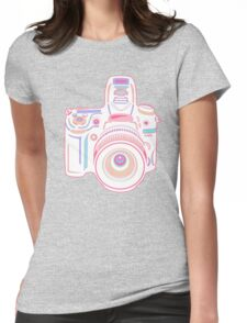 Cute Pastel Camera Womens Fitted T-Shirt